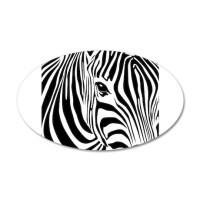 Zebra Print Decal Wall Sticker by AfricanInk
