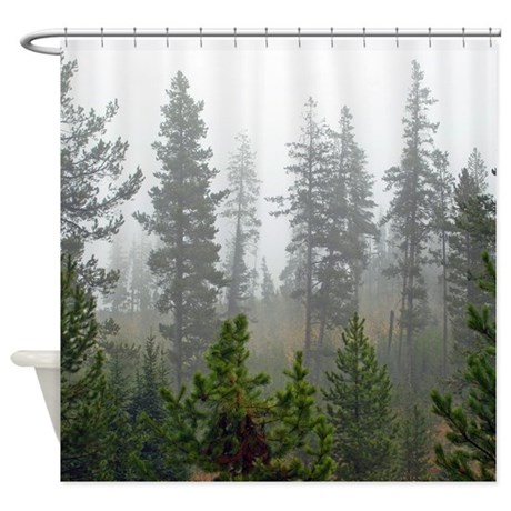 Misty forest Shower Curtain by saltypro_shop