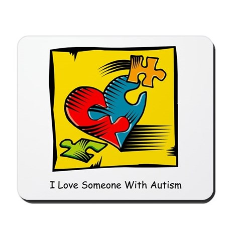 Download I Love Someone with Autism Mousepad by charmingchick