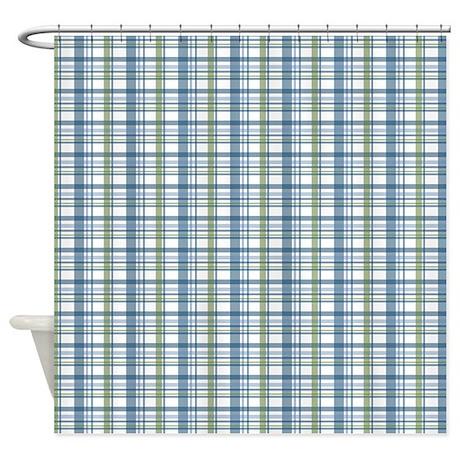 Blue Plaid Curtains Blue Plaid Shower Curtain By Thecafemarket United Curtain Co Blue Plaid
