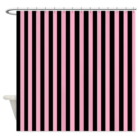 Black And Pink Shower Curtain
