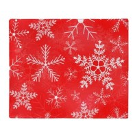 Red and White Snowflake Pattern Throw Blanket by HippyGiftShop
