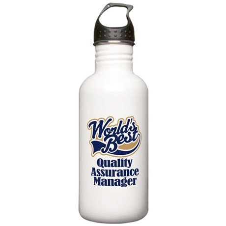 Quality Assurance Manager Worlds Best Water Bottle by jobtees2