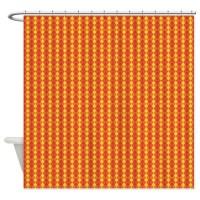 Orange Yellow Geometric Print Shower Curtain by ...