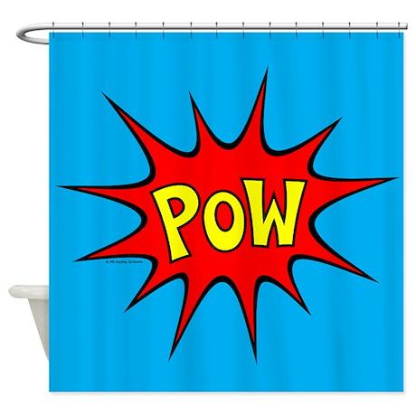 Pow Shower Curtain