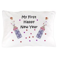 Baby's First New Year Pillow Case by bonfiredesigns