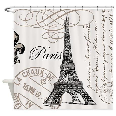 Paris Shower Curtains Paris Fabric Shower Curtain Liner