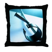 Walking crutch - Throw Pillow by sciencephotos