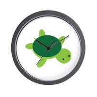 Turtle Wall Clock by imaginarystory