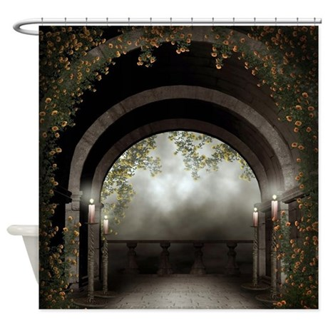 cafe curtains for kitchen custom countertops gothic arch balcony shower curtain by showercurtainshop