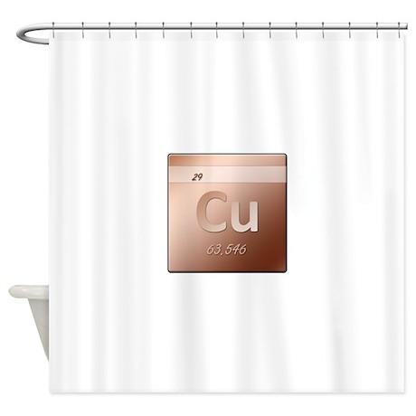 Copper Cu Shower Curtain by wheedesign