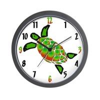 Green Sea Turtle Clocks | Green Sea Turtle Wall Clocks ...
