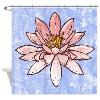 Light Pink Water Lily Shower Curtain by cheriverymery