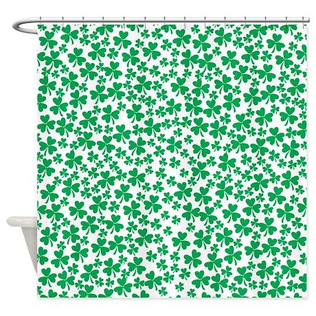 Four Leaf Clover St Patricks Day Shower Curtain By Citytease