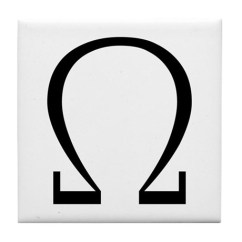 Kitchen Cafe Curtains Mats Target Greek Omega Symbol Tile Coaster By Symbolsonstuff