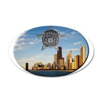 Chicago Police Skyline Wall Decal by lawrenceshoppe