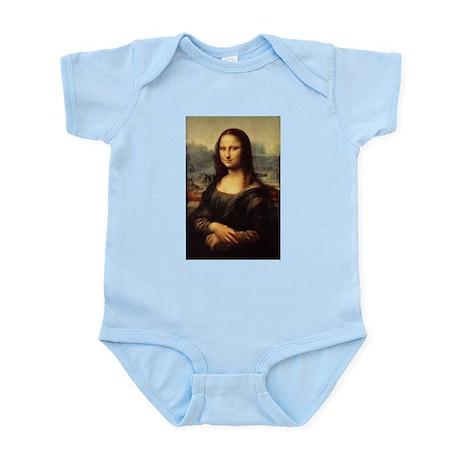 Leonardo da Vinci Mona Lisa Baby Light Bodysuit Leonardo