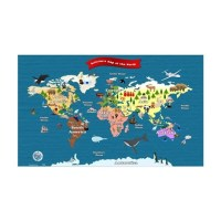 World Map For Kids - Lets Explore Wall Decal by FunMapsForKids