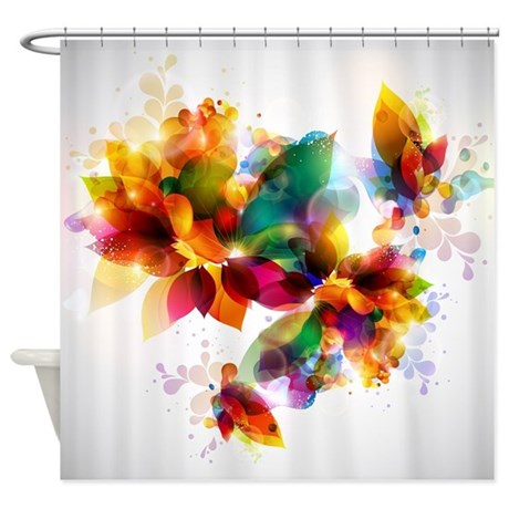 Colorful Shower Curtains  Colorful Fabric Shower Curtain