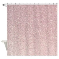 light pink faux glitter texture shower curtain by ...