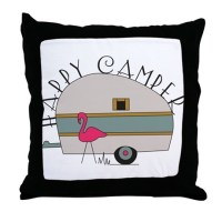 Happy Camper Pillows, Happy Camper Throw Pillows ...