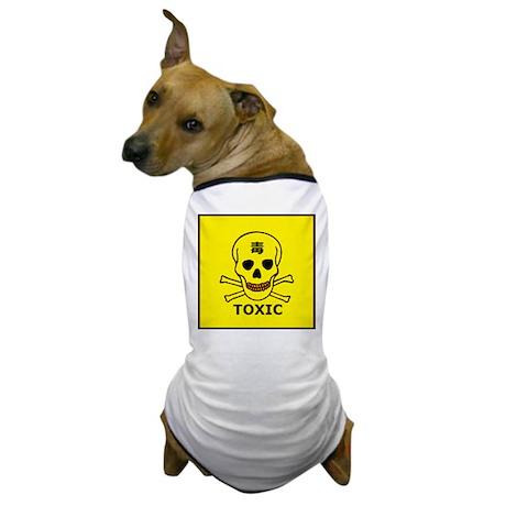 toxic symbol Dog TShirt by OnlyTshirtPops