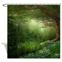 Cafe Kitchen Curtains Seat Cushions Summer Forest River Shower Curtain By Showercurtainshop