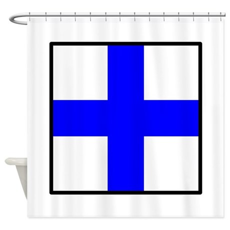 Nautical flag xray shower curtain by worldandstateflags