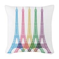 Eiffel Tower Pattern Woven Throw Pillow by BestGear