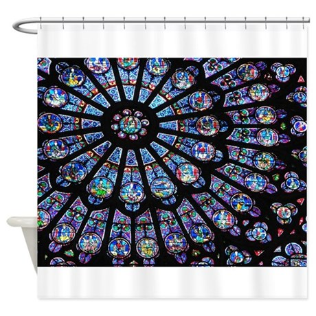 Stained Glass Shower Curtains Stained Glass Fabric Shower