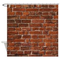 Brick Wall Shower Curtain by jolenestrailer