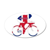 Britain Cycling Wall Decal by sports_tshirts_shop