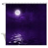 Dark Purple Shower Curtains | Dark Purple Fabric Shower ...