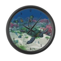 Sea Turtle Large Wall Clock by gatterwe