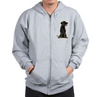 Cute Black Labrador Dog Zip Hoodie