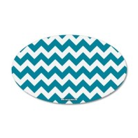Chevron Teal Wall Decal by CarolinaSwagger