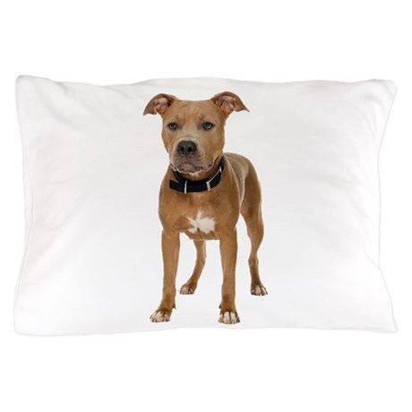 Pit Bull Pillow Case by theonlinezoo