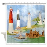 Lighthouse Shower Curtains   Lighthouse Fabric Shower ...