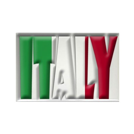 Word Art Flag Italy Rectangle Magnet By Coolcups