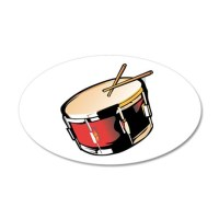 realistic snare drum red Wall Decal by MusicianEvents
