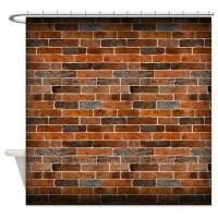 Pattern Brick Shower Curtains | Pattern Brick Fabric ...