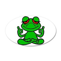 Frog Lotus Wall Decal by tees4sale