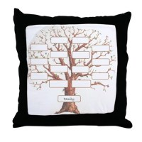 Family Tree Pillows, Family Tree Throw Pillows ...