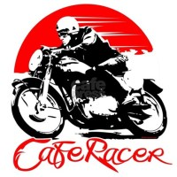 Cafe Racer Wall Decal by 454autoart