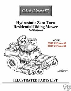 Cub-Cadet-Zero-Turn-Z-Force-50-60-Parts-Manual