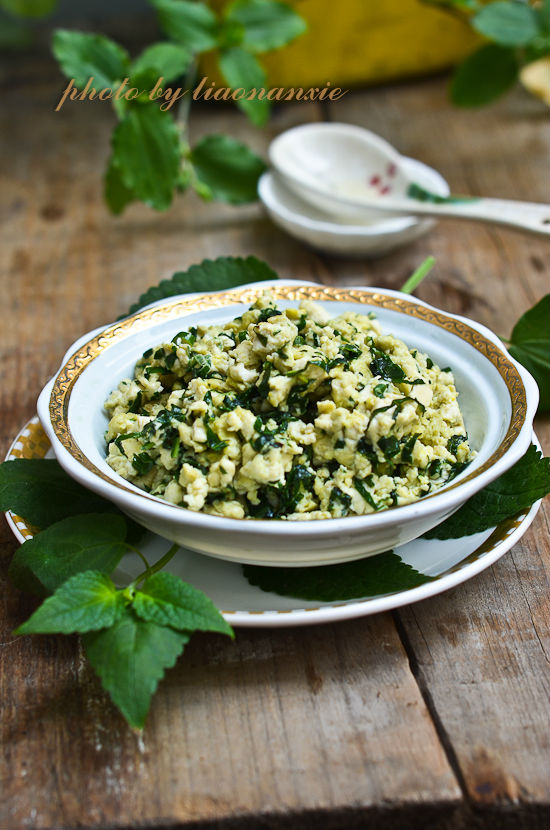 【藿香豆腐炒蛋】隨意而為的桌上美味_藿香豆腐炒蛋_遼南蟹的日志_美食天下