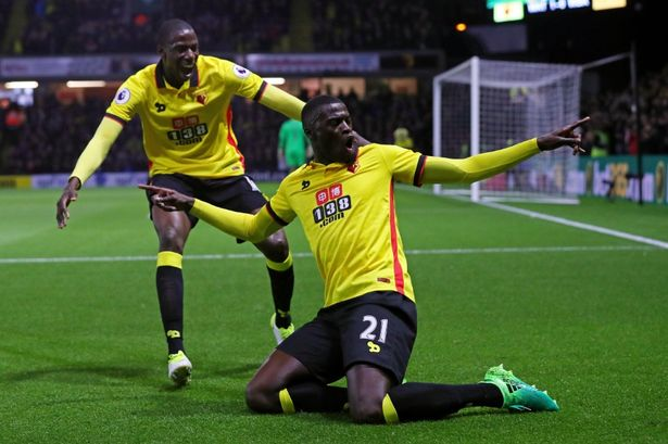 Image result for Mbaye Niang watford 2-0 west brom