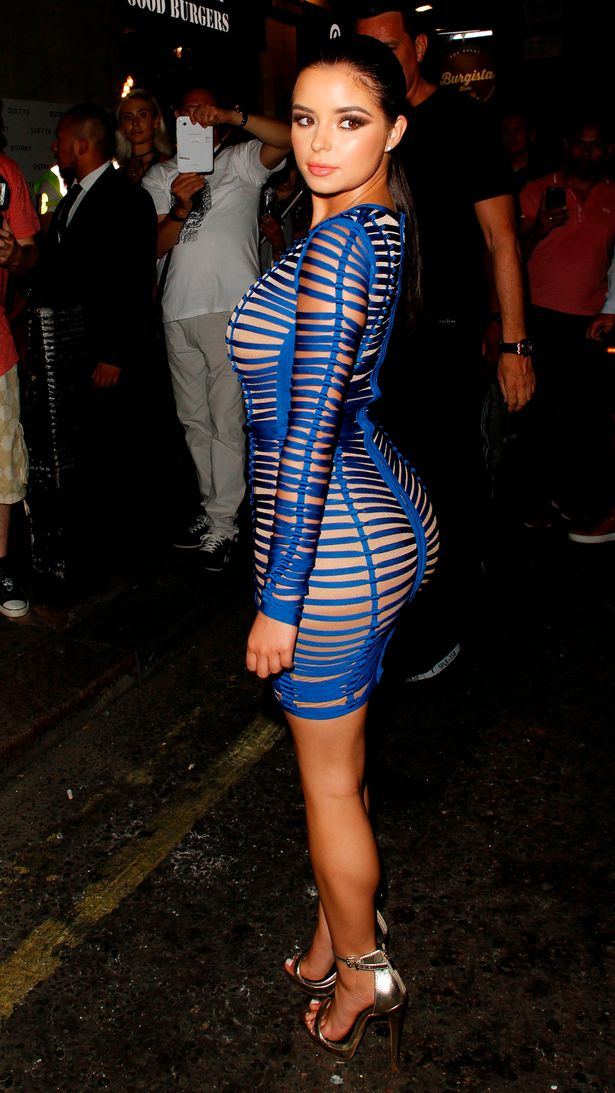 Sixty Magazine Launch London - Demi Rose exposes ample cleavage in sexy sheer dress