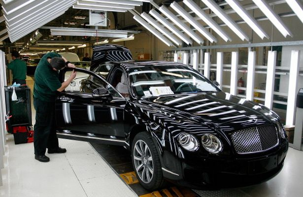 Production at Bentley Motors Ltd. Plant