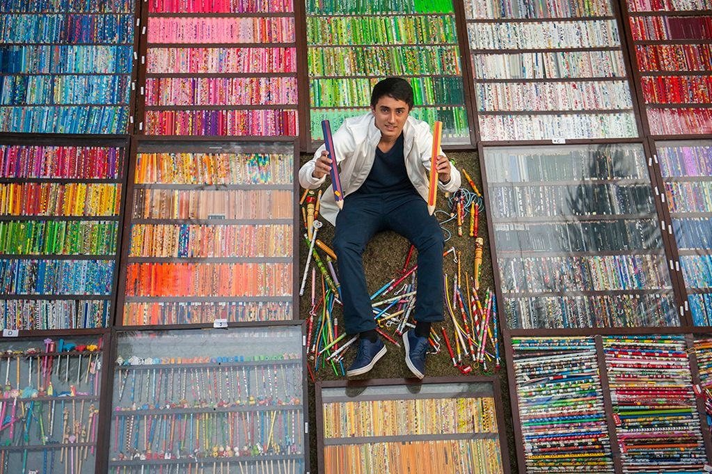 World Record For Pencils? Tushar Lakhanpal Has 14,000 In